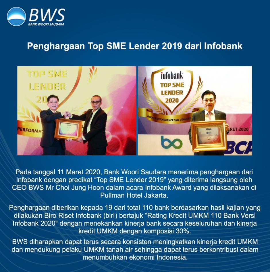 BWS Meraih Penghargaan Top SME Lender dari Infobank